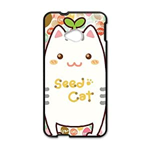 cute seed cat lovely personalized high quality cell phone case for HTC M7 by Maris's Diaryby Maris's Diary