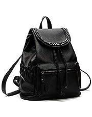 موضة النساء والجلود الناعمة حقيبة الكتف كلية ريح حقيبة السفر الترفيه WB77 الأسود