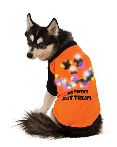 (Rubie's LED Light-Up Halloween Dog Shirt,)