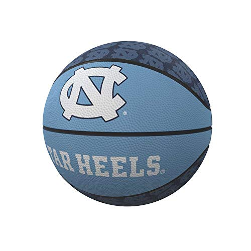 - Logo Brands NCAA North Carolina Tar Heels Rubber Basketball, Miniature, Light Blue