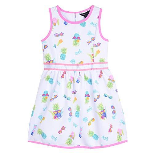 - Nautica Girls' Patterned Sleeveless Dress graphic pink 6X