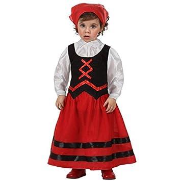 Atosa - Disfraz de pastora rojo y negro, t 12-24 mes
