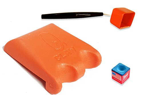 Q Claw Orange 2 Pool Cue Holder with Pocket Chalker by QC