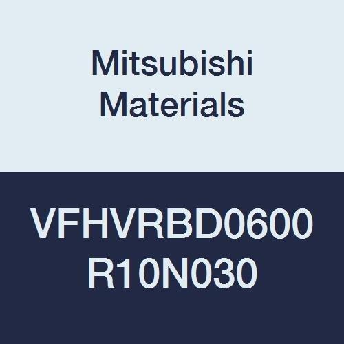 9 mm LOC Mitsubishi Materials VFHVRBD0600R10N030 Series VFHVRB Carbide Impact Miracle Corner Radius End Mill Short 30 mm Neck Length 4 6 mm Cut Dia 1 mm Corner Radius Irregular Helix Flutes