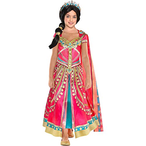 (Party City Aladdin Pink Jasmine Costume for Children, Size Medium, Includes a Fancy Pink Dress with a Matching)