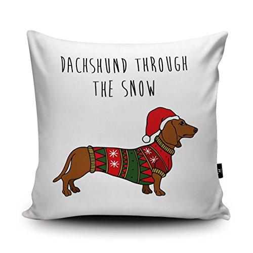 GOODcake Cojín de Navidad para perro salchicha de Catherine ...