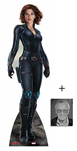 Fan Pack - Black Widow (Scarlett Johansson) Avengers Age of Ultron Marvel Lifesize Cardboard Cutout / Standee / standup - Includes 8x10 (20x25cm) Photo