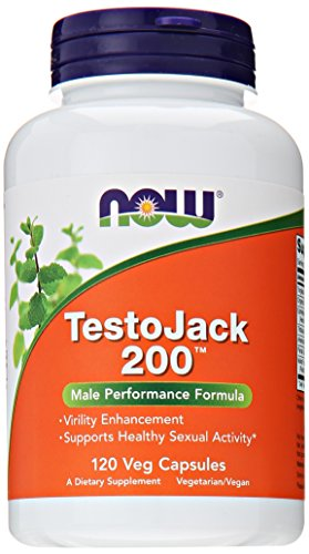NOW TestoJack 200,120 Veg Capsules - Eurycoma Longifolia Jack