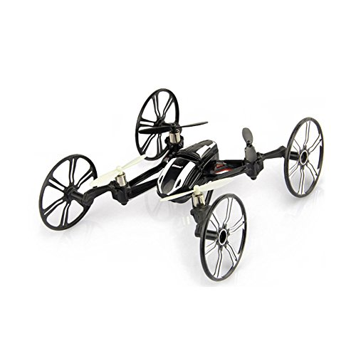 Babrit Elite 6-Axis Gyro RC Quadcopter 2.4Ghz 4-in-1 RC Drone Quadcopter RC Flying Car Remote Control Drone with HD Camera - Black (Iphone Controlled Car With Camera compare prices)