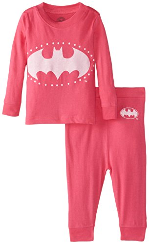 Pj Jammies Costumes (DC Comics Baby Girls' Bat Girly 2 Piece Cotton Infant, Pink, 24 Months)