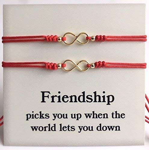 Love and Friendship Matching Bracelets for Best Friends - Set of 2 Red String Bracelet -