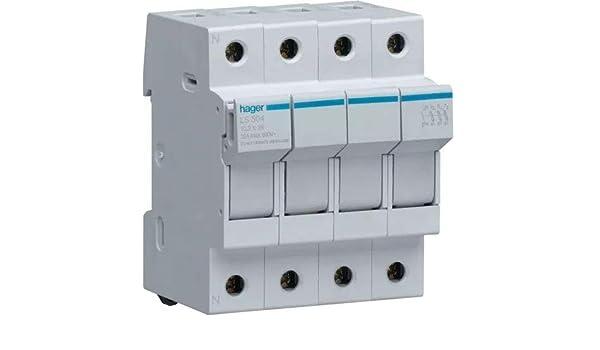 Hager LS504 - Portafusible 10,3x38 32a 3 polos+neutro ...
