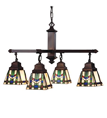 Chandelier Wheat 4 Light (Meyda Tiffany 24267 Prairie Wheat 4 Light Chandelier, 26