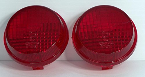 Chrome Glow TSL-HR Replacement Turn Signal Lenses for Honda Cruisers - Also Kawasaki Vulcan (Red)
