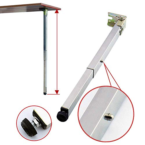 Patas de mesa de comedor plegables de pared pies telescopicos patas de elevacion RV pie de apoyo de barra 40-130 cm