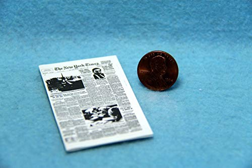 Dollhouse & Miniature The New York Times Newspaper with Print