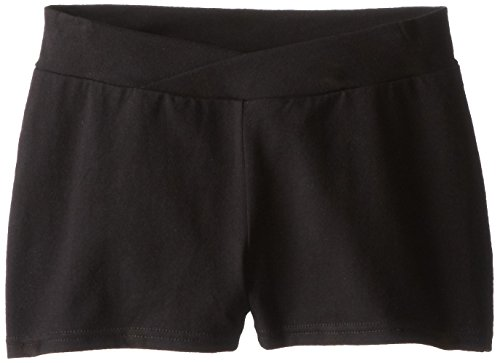 Capezio Big Girls' Boy Short,Black,L (12-14)