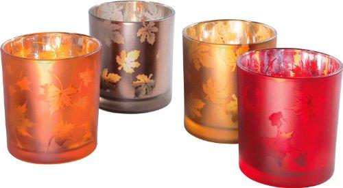 Teelicht 4er-Pack Orange
