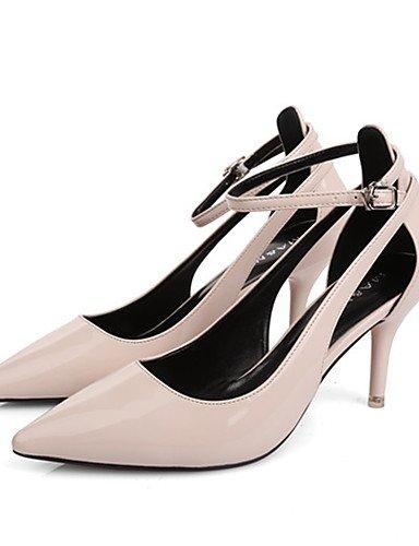 GGX/ Damenschuhe-High Heels-Kleid / Party & Festivität-Lackleder-Stöckelabsatz-Komfort / Spitzschuh-Schwarz / Rot / Weiß / Grau dark gray-us8.5 / eu39 / uk6.5 / cn40