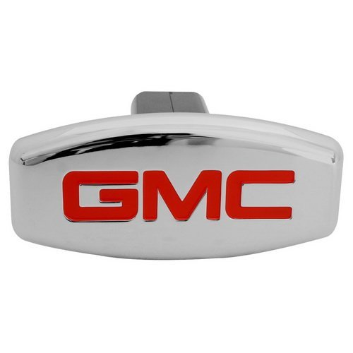 Hitch Cover, licensed Auto Logo Trailer Tow Hitch Covers Made by Stainless Steel (GMC)