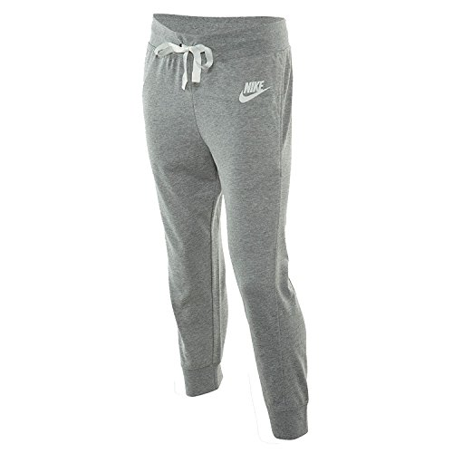 NIKE Women's Gym Classic Sport Casual Capri Pants-Heather Grey-XL ()