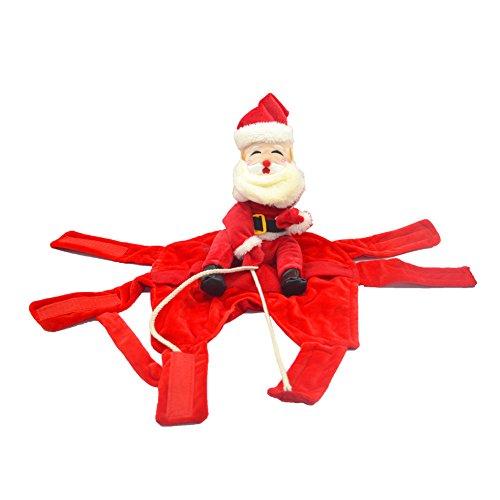 Delifur Dog Christmas Costumes, Santa Dog Rider