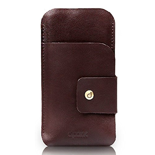 Alienwork Case for 3.5-4.7 inches Smartphone iphone 6/6s,Galaxy A3/Alpha,S4/S5 Mini,Sony Z3/Z2 Mini Carrying Bag Bumper Wallet Flip Sleeve Shock Proof Leather brown AP636-01