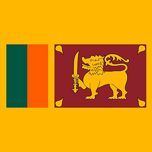 Sri Lanka Buddhist Flag (Sri Lanka - World Country National Flags - Vinyl Sticker)