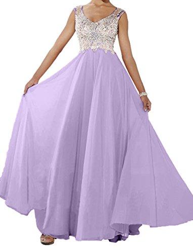 Lilac Damen Charmant Brautmutterkleider Abendkleider Rosa Partykleider Kleider Langes Neu Jugendweihe Perlen vqdCqwT