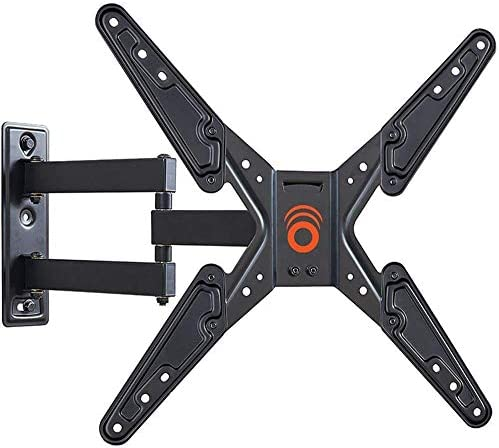 ECHOGEAR Full Motion TV Wall Mount Bracket for 26-55 Inch TVs – Extend, Tilt and Swivel Your TV - Easy Single Stud Install