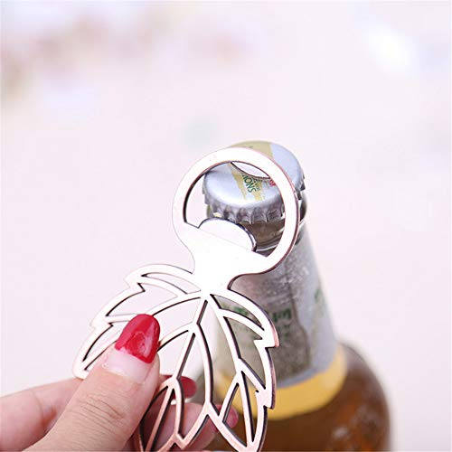 m·kvfa Rose Gold Bottle Opener Maple Leaf Shape Alloy Tool Wedding Party Gift Souvenirs Eco-Friendly Kitchen Tools Wine Opener Kits