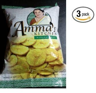 Amazon.com: Amma\'s Kitchen Banana Chips 14 oz (Pack of 3)