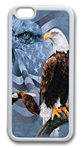 Faded Flag and Eagles Custom For SamSung Galaxy S6 Case Cover Hard shell White