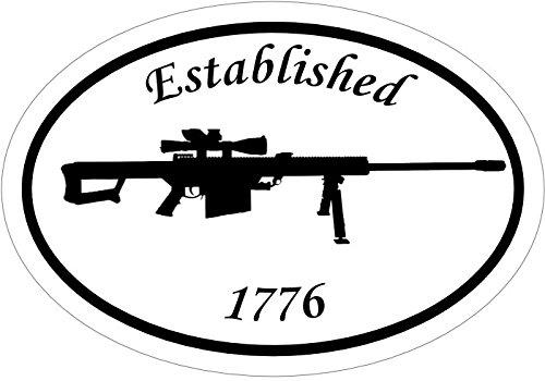 2nd Amendment Bumper Sticker Oval Vinyl 1776 50 Cal Decal