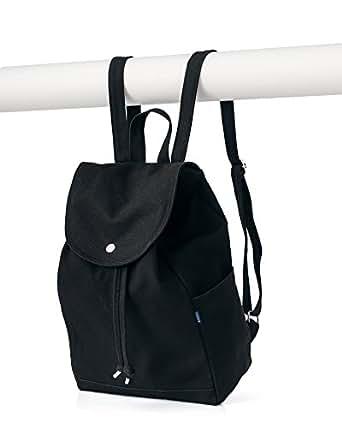 BAGGU Canvas Drawstring Backpack - Black (2017)