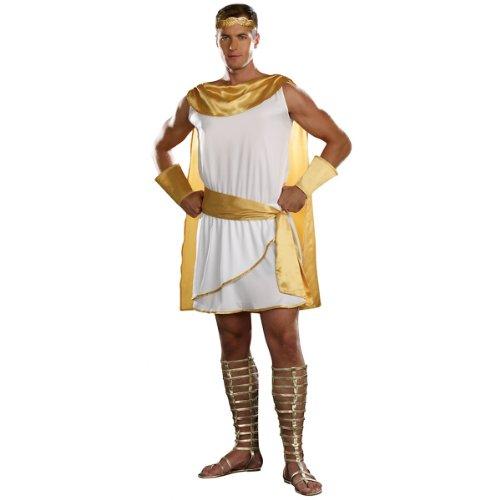 [Dreamgirl Men's He's A God Costume, White, XX-Large] (Roman God Costumes)