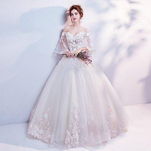 Brautkleid MoMo EIN Brautkleid Kleid Champagner Brautkleid Kleid Wind Wort Prinzessin qzqfaUrt