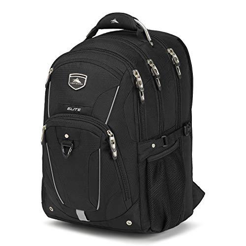 High Sierra Elite TSA-Friendly Laptop Backpack, Black