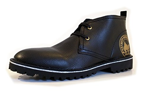 PORTMANN Desert Chukka Boots Antique Oiled Leather | Summer Boots | ExtraLight Sole | Made in Europe. Black Tumbled outlet get to buy 7dx9C