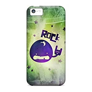 High Grade Saraumes Flexible Tpu Case For Iphone 5c - Rock
