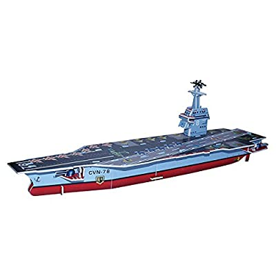Military Model Kids DIY Toys The Small Aircraft Carrier 3D Puzzle-29 Pieces