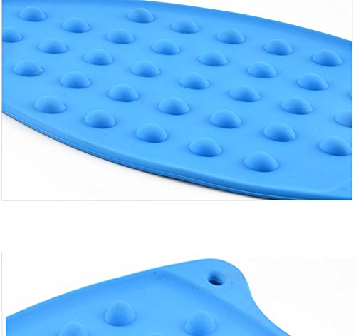 AMZALI Silicone Iron Rest Pad for Ironing Board Hot Resistant Mat Pink