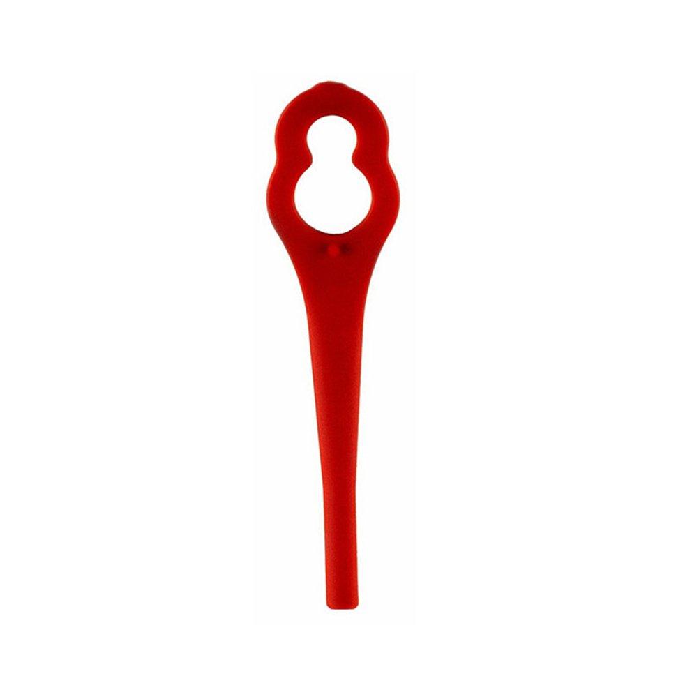 Yardwe 50 St/ücke Kunststoffmesser f/ür Akku Rasentrimmer Ersatzmesser Rot