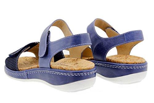 PieSanto Komfort Damenlederschuh 1909 Sandale mit Herausnehmbarem Fußbett Bequem Breit Marino