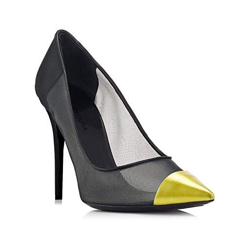 de Acentuados Fiesta Carrera Primavera Noche XUE y Verano Mujer Zapatos y Zapatos Hebilla Malla Tac de Oficina qw1n8BOt