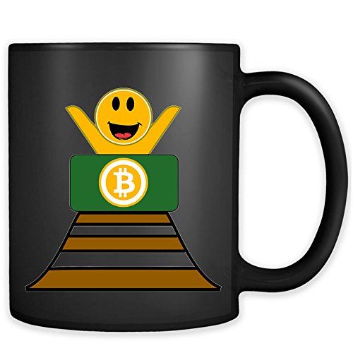 Funny Bitcoin Rollercoaster Mug - Cryptocurrency Ethereum Ripple LiteCoin Coffee Cup ()