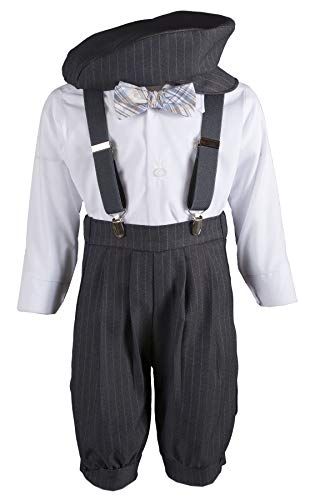 Boys Grey Knicker Set Grey & Blue Bow Tie in Baby, Toddler & Boys Sizes (3 Toddler) from Tuxgear