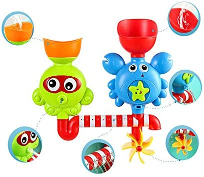 aoleye お風呂のおもちゃ 入浴おもちゃ お風呂用 入浴玩具 ミニ浴室玩具セット 水遊び 蛇口 噴水 シャワー あびる 知育玩具 プレゼント 贈り物無毒 耐温性