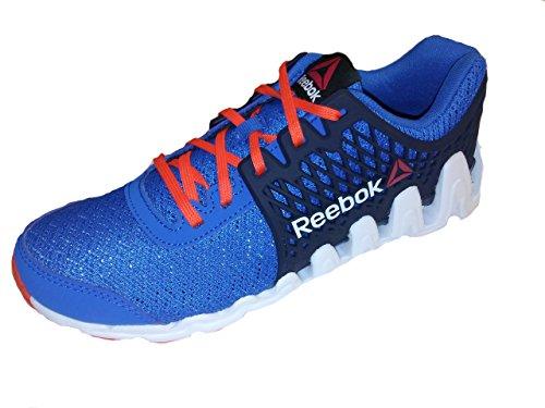 5.5 Little Kid // Big Kid Reebok Zigtech Big and Fast Running Shoe Unisex Blue // Navy // Orange // White