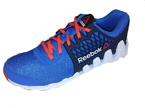 Price comparison product image Reebok Zigtech Big and Fast Running Shoe (Little Kid/Big Kid),Blue/Navy/Orange/White,5.5 M US Big Kid